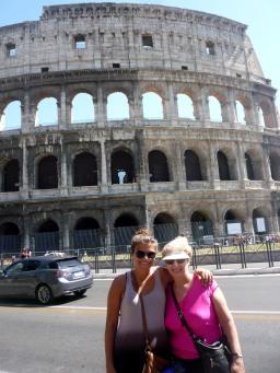 Liz, Cathy, and Rome